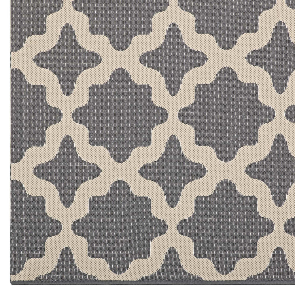 Modway Cerelia Polypropylene 90.5X63 Area Rugs In Gray And Beige R-1139D-58
