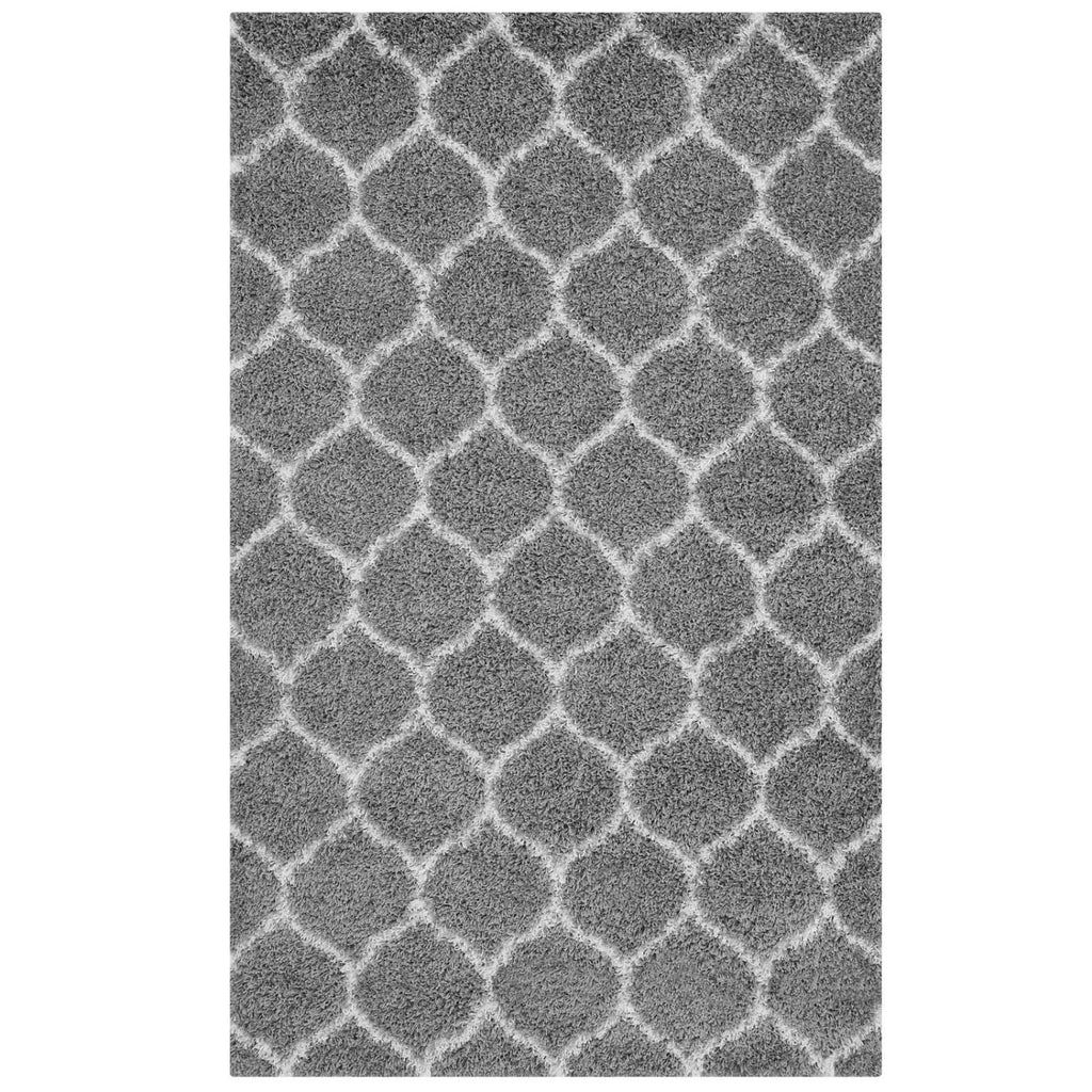 Modway Solvea Polypropylene 96.5X61 Area Rugs In Gray And Ivory R-1143B-58