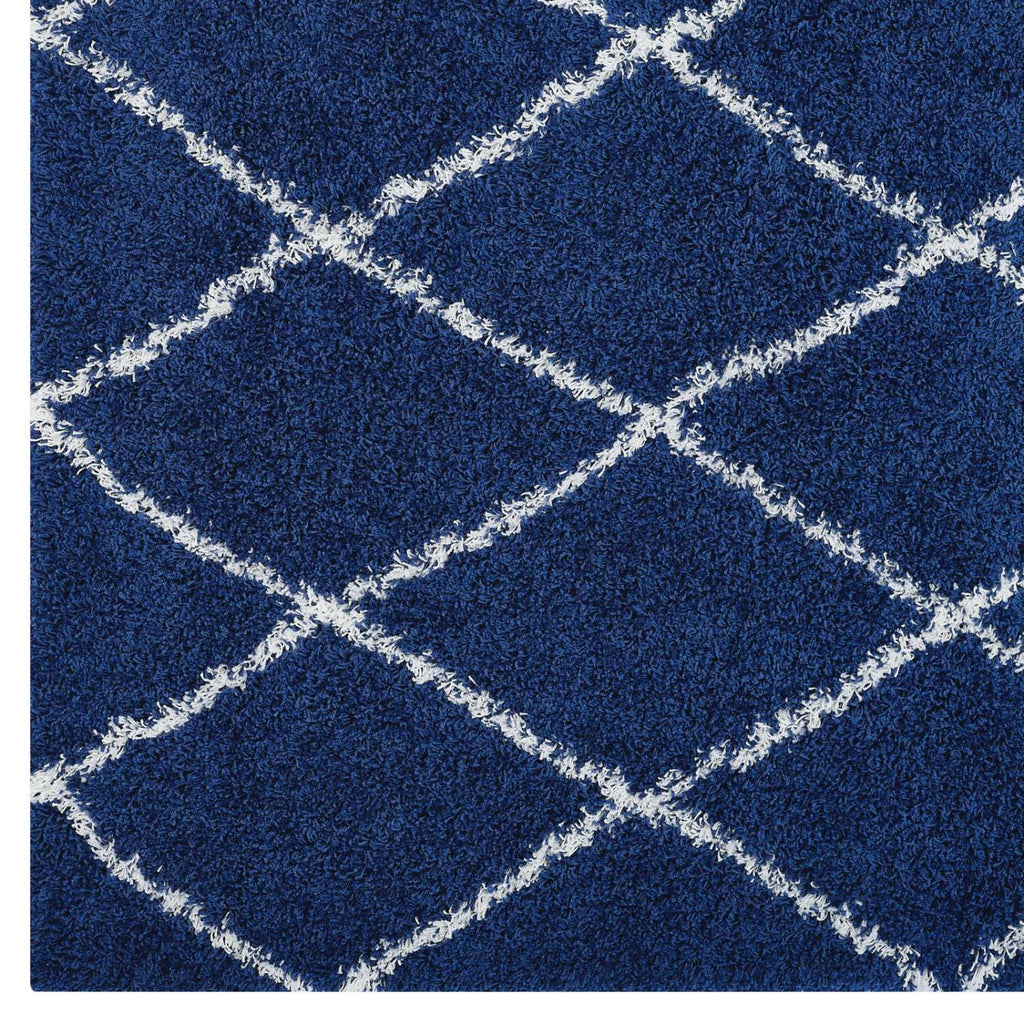 Modway Toryn Polypropylene 96.5X61 Area Rugs In Navy And Ivory R-1144A-58