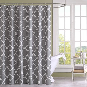 Madison Park Shower Curtain With Grey Finish MP70-1286 - gwg-outlet