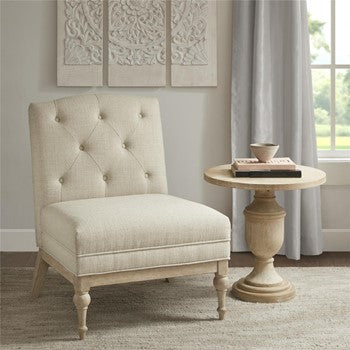 Madison Park Farm House Reyi Accent Chair With Beige Finish MP100-0760