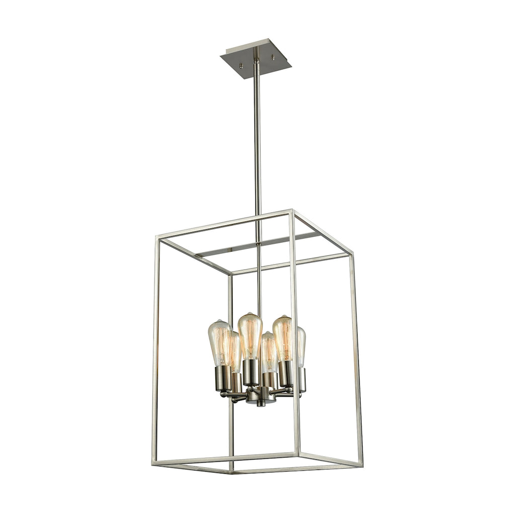 Thomus 6 Light Chandelier In Oil Brushed Nickel CN15862
