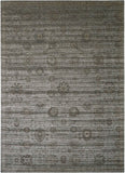 "Nourison 7'6"" x 10'6"" Luminance Graphite Rectangle Area Rug"