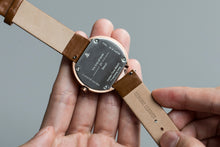 Leather Straps - Beige leather with Rosegold buckle