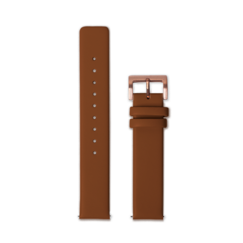 Leather Straps - Brown leather with Rosegold buckle