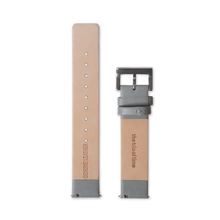 Leather Straps - Grey leather with Silver buckle