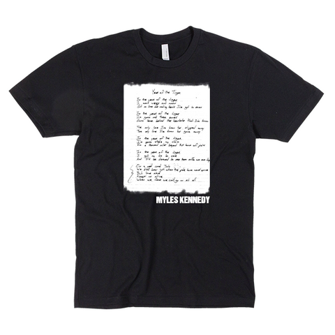 "Myles Kennedy ""Year of the Tiger"" Lyric Tee"