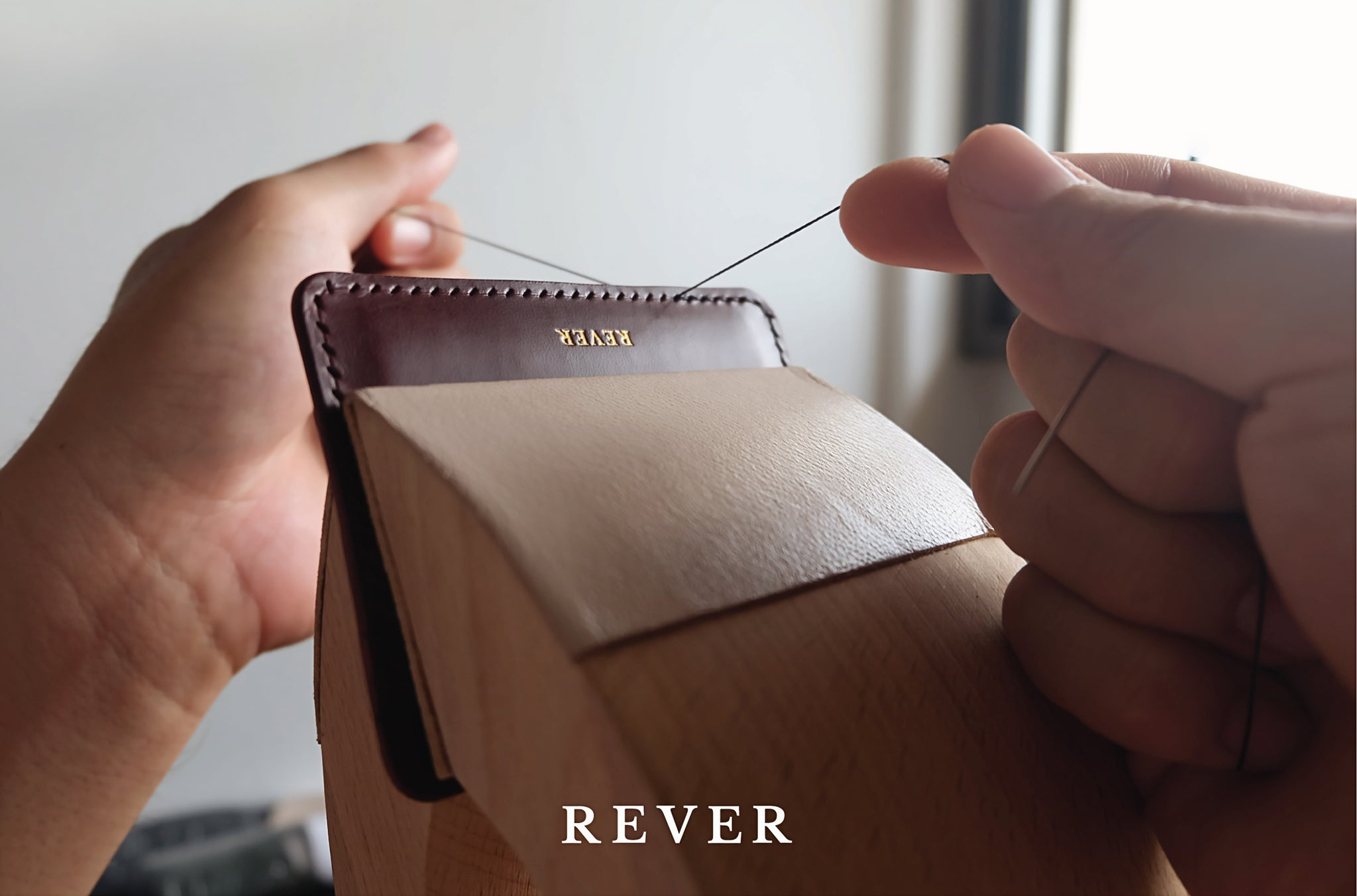 Rever Leather Goods Behind The Scenes Handcrafting Hand Stitching