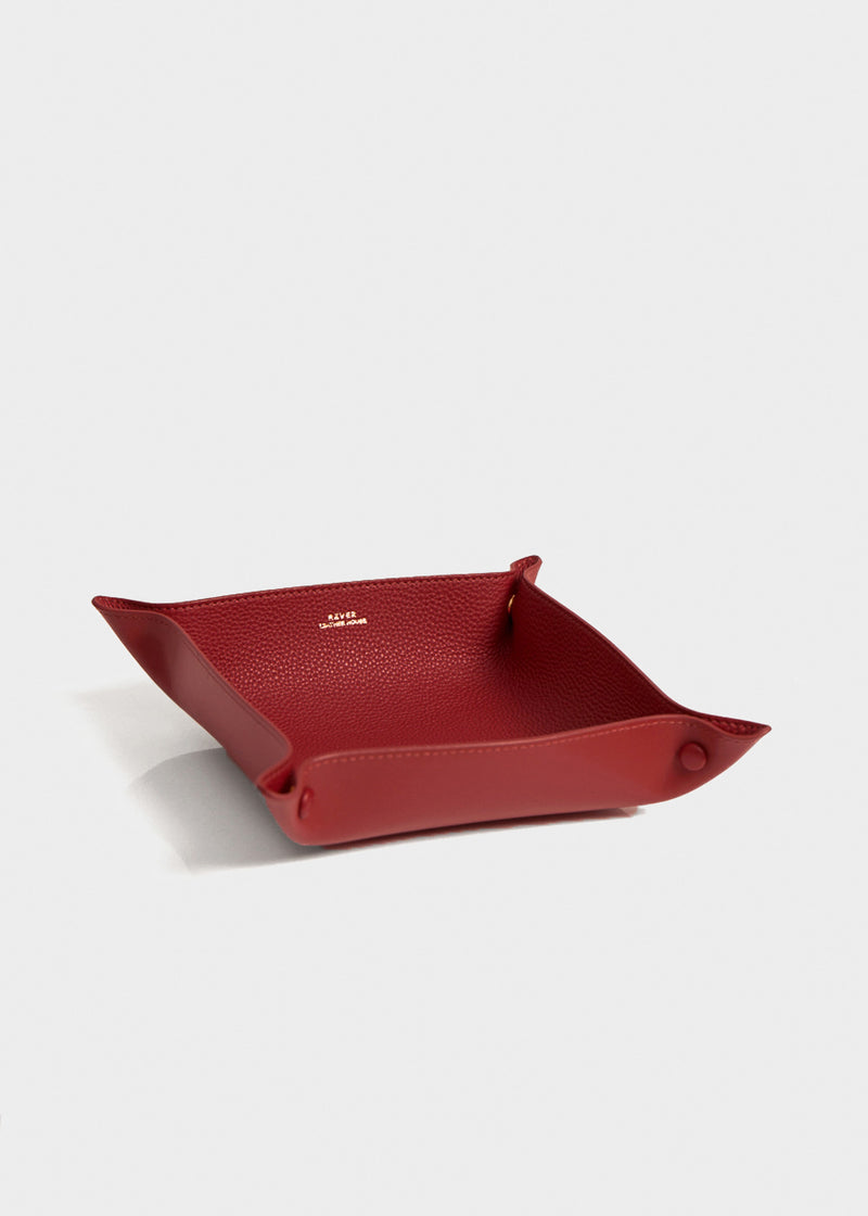 Alfred Large Valet Tray, Rouge