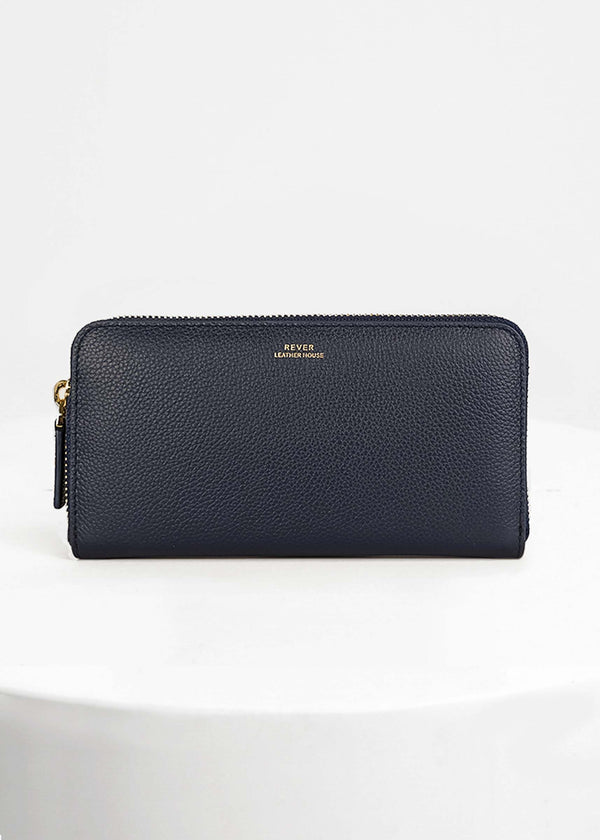 Elias Large Zip Wallet, Navy