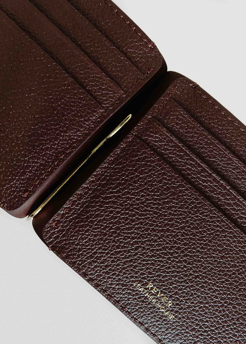 Franklin Money Clip Wallet, Burgundy