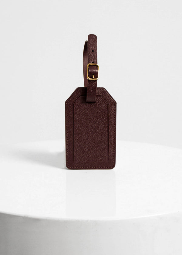 Plath Luggage Tag, Burgundy