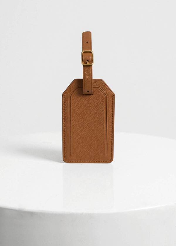 Plath Luggage Tag, Tan