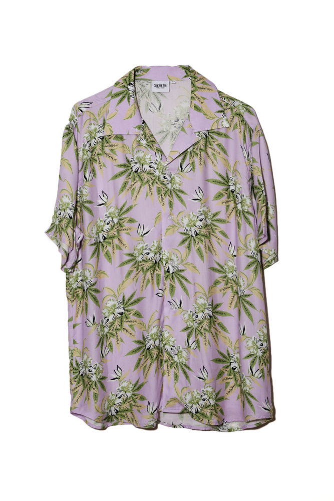SSS WORLD CORP WEED HIBISCUS SHIRT