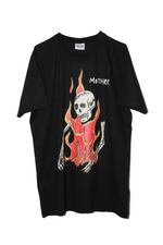 SSS WORLD CORP FLAMING SKELETON T-SHIRT