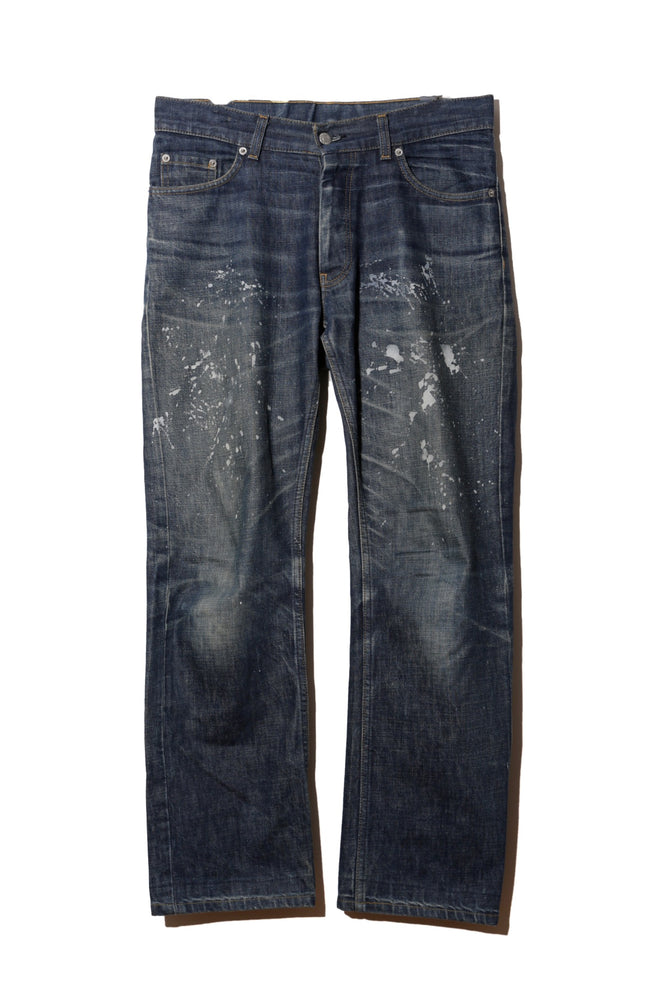 HELMUT LANG ARCHIVE PAINT DENIM PANTS