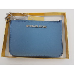1e0d5547ee827c Michael Kors NEW Giftables Leather Purse Wallet Keyring In Silver Gift Boxed