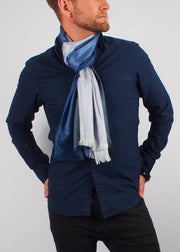 blue sky wool scarf man