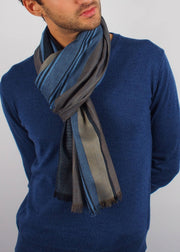 earth tones silk scarf man