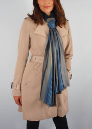 earth tones silk scarf woman