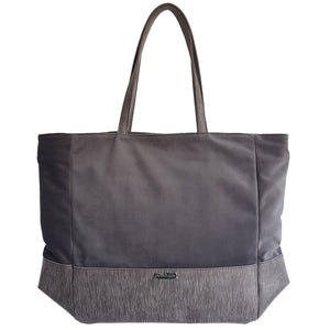 Luxury Vegan Dark Grey Large Tote Bag
