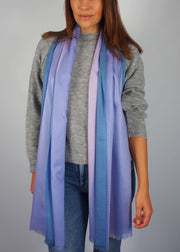 pale pastel blue pink unicorn silk scarf woman