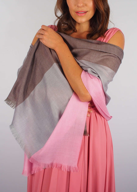 pink chocolate romantic silk scarf woman