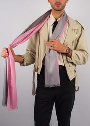 pink chocolate romantic wool scarf man