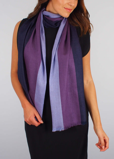 purple third eye silk scarf woman