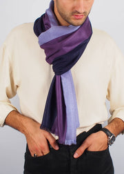 purple third eye wool silk scarf man