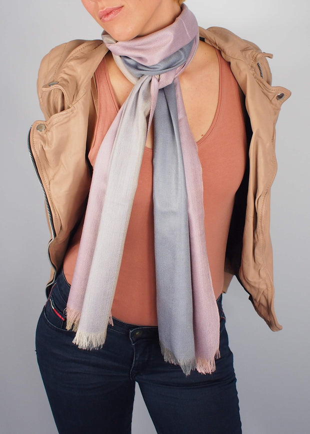 rose gold precious metals silk scarf woman