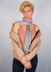 rose gold precious metals wool scarf woman