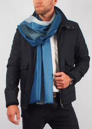 silver sea ice wool scarf man