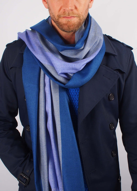 twilight colours silk scarf man
