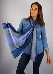 twilight colours wool scarf woman
