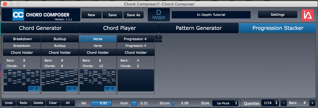 Chord Composer | Chord Progression Plugin | Progression Stacker