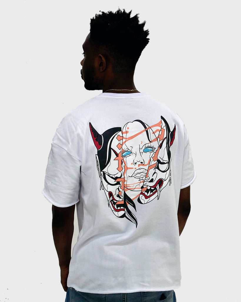 Ghost In A Shell // White French Terry Tee