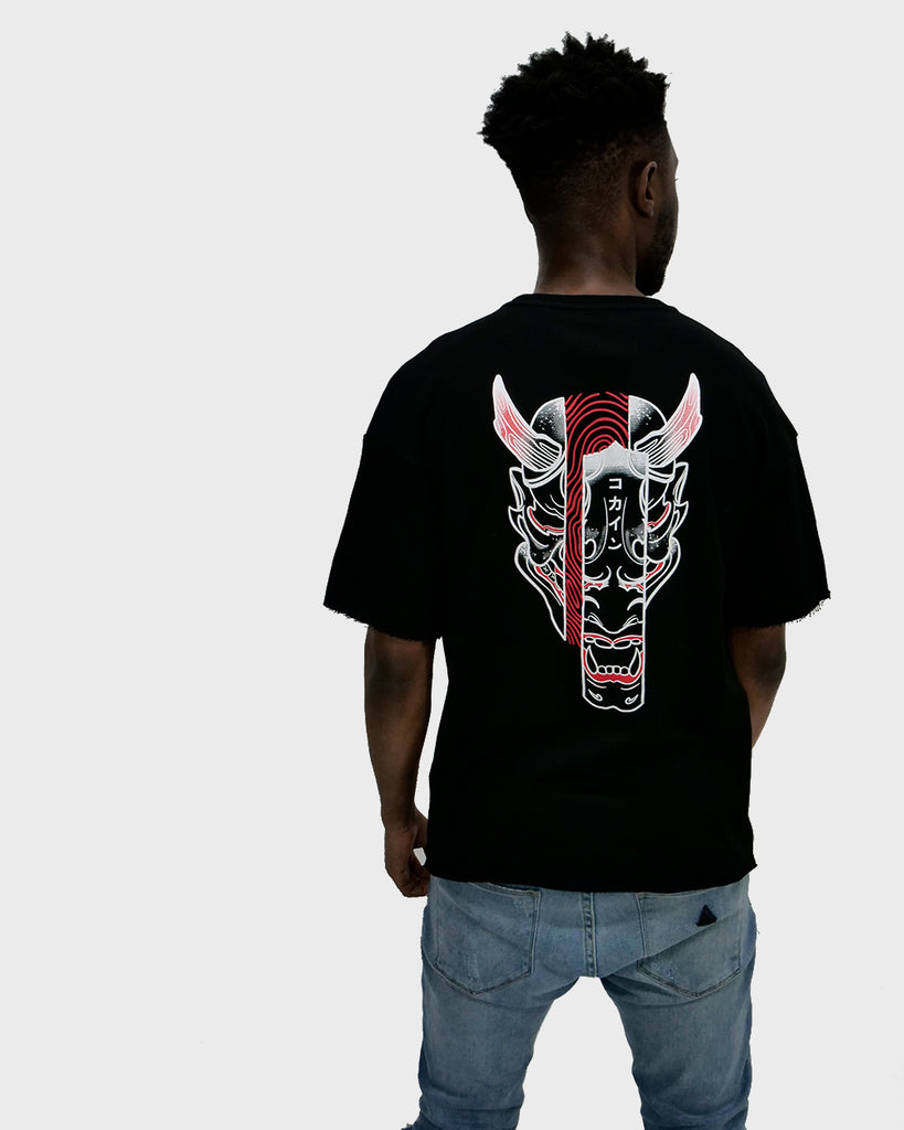 Hannya Mask French Terry Tee /// Black