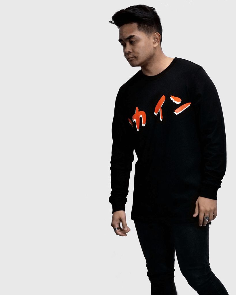 Calligraphy Long Sleeve Tee /// Black
