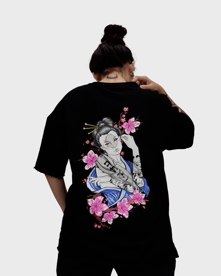Cyborg Geisha French Terry Tee /// Black