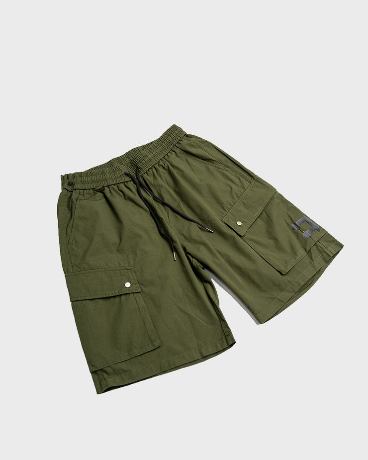 """Nylon"" Shorts // Khaki Green"