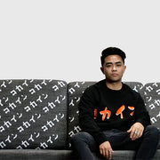Calligraphy Crewneck /// Black