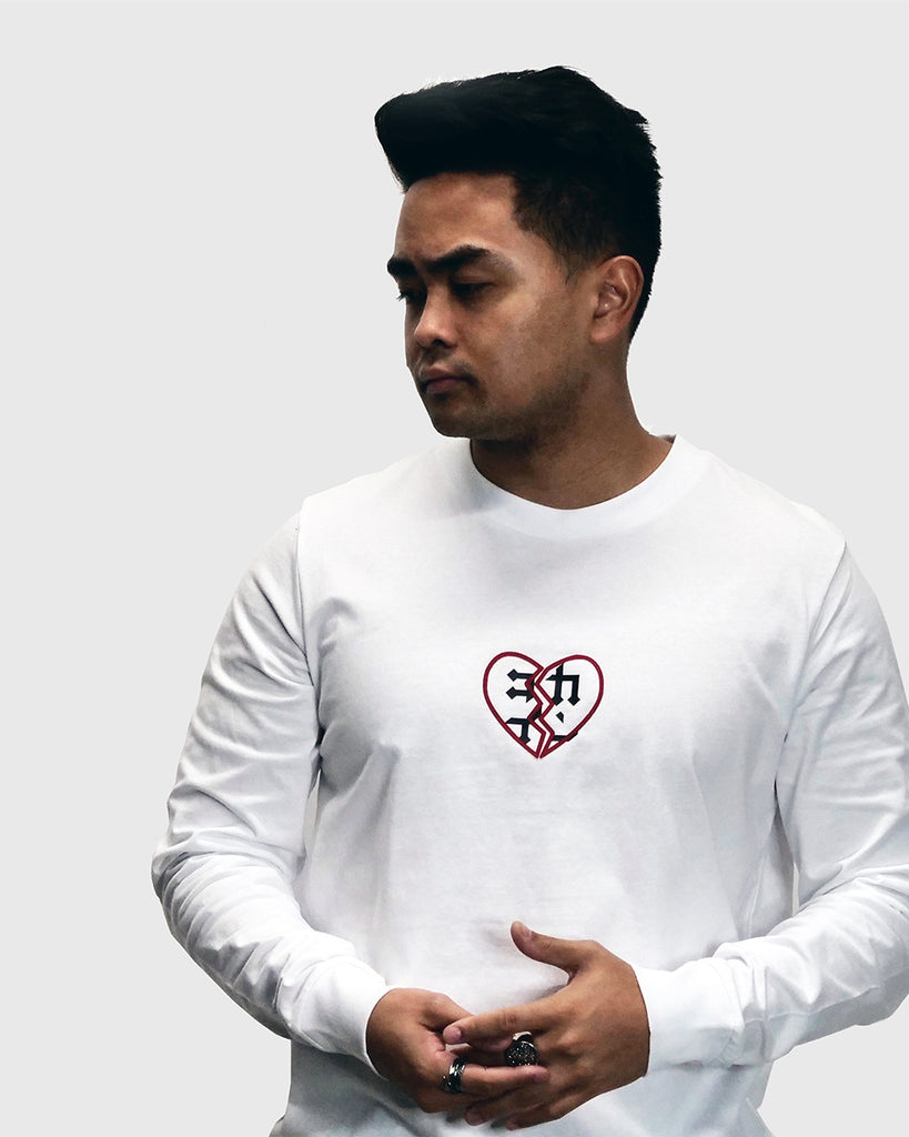 Heartbreaker Long Sleeve Tee /// White