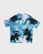 """Logo"" Tie Dye Tee // Purple & Blue"