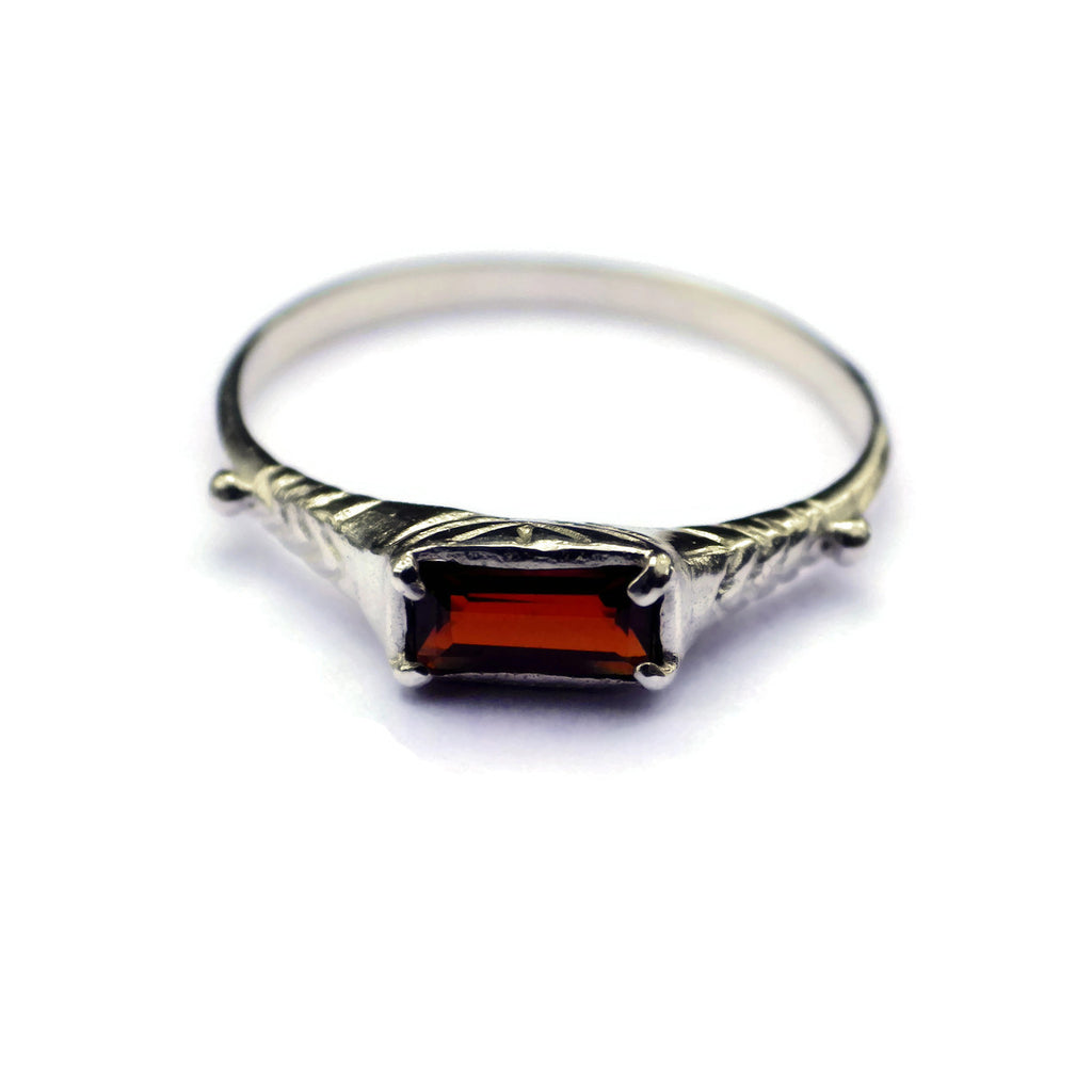 Garnet Ring for Prosperity & Success