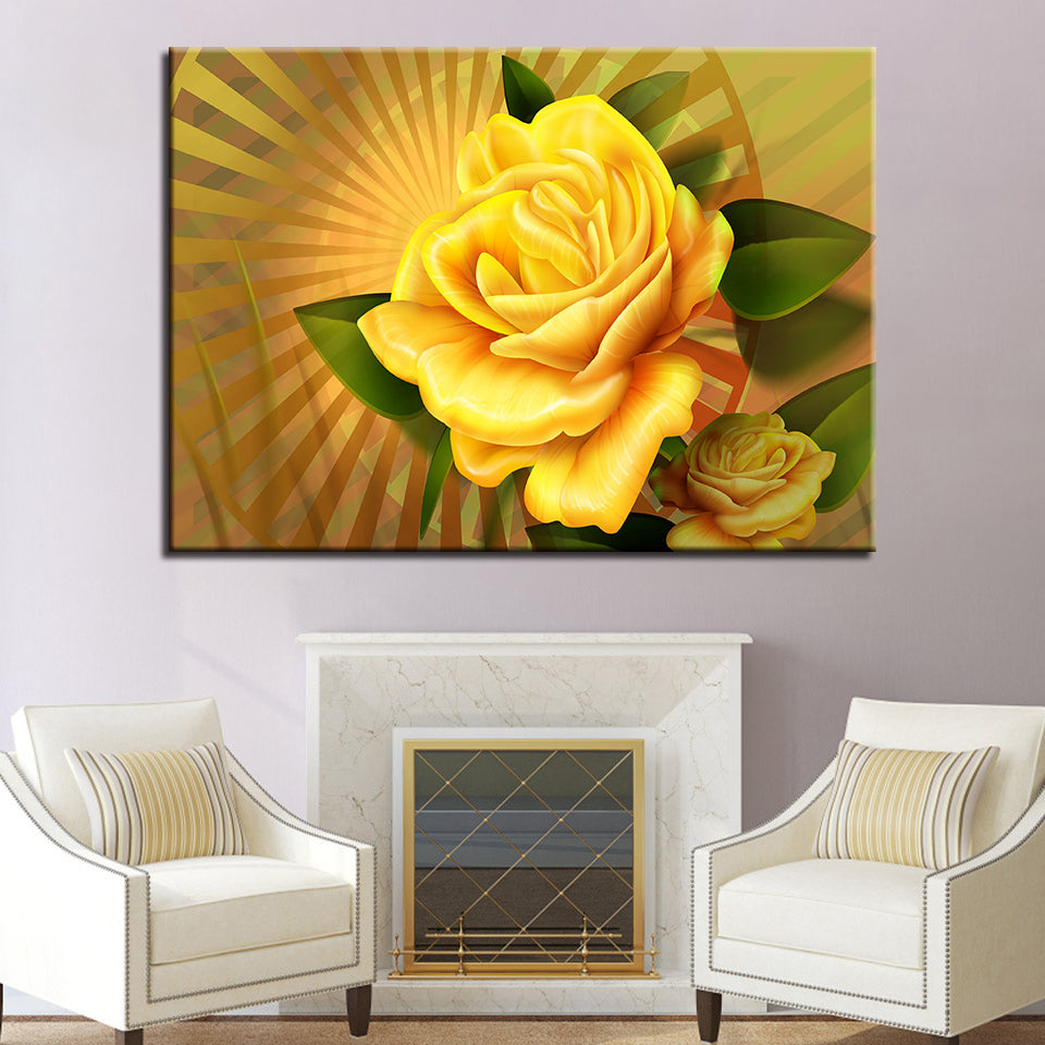 Flower Wall Art Canvas Prints Artistic Paintings 1 Piece Wall Art