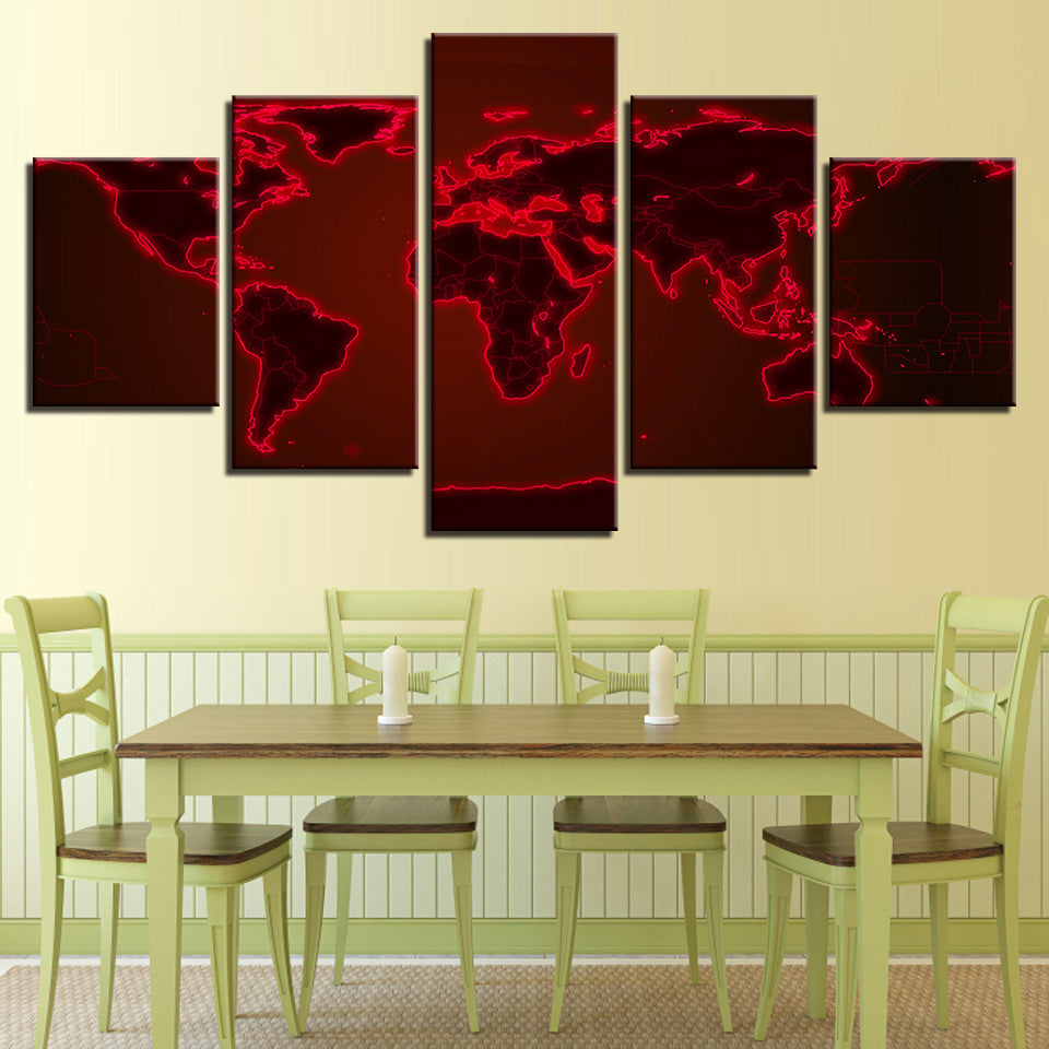 Awesome Red And White Wall Art Gallery - The Wall Art Decorations ...