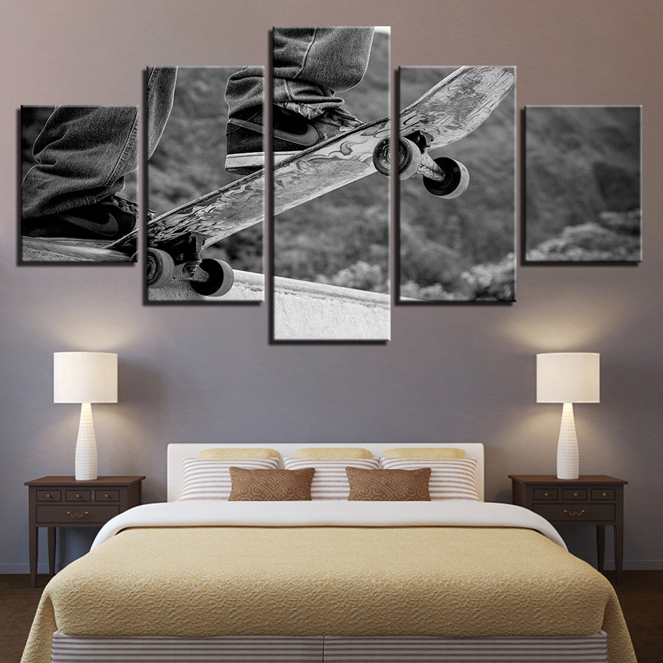 X-Sports Cool Skateboarding 5 Pieces Canvas Wall