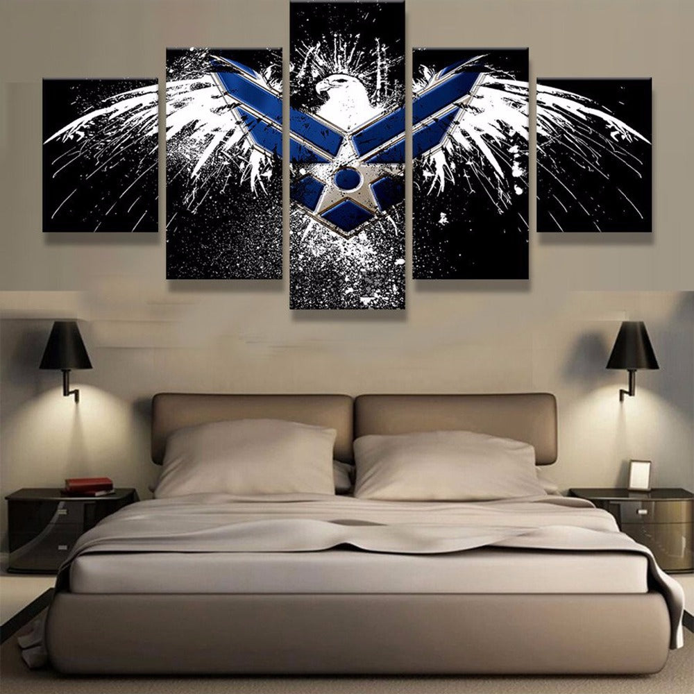 Air Force Eagle Painting 5 Pieces Canvas Wall