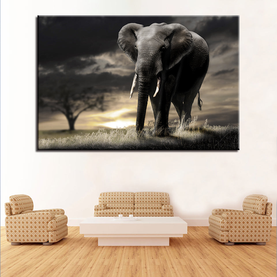 Elephant Forest Animal 1 Piece Canvas Wall Art